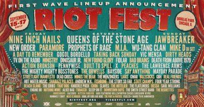 Riot Fest 2017 Lineup Plakat